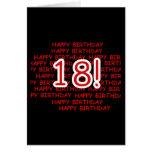 Feliz cumpleaños 18 felicitación