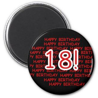 Feliz cumpleaños 18 imán de frigorifico