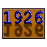 Feliz cumpleaños 1926 años de twentie de los años  tarjeton