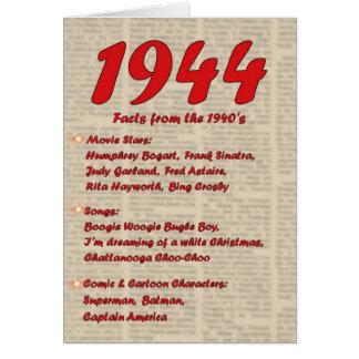 Feliz cumpleaños 1944 años de los años 40 40s de tarjeta de felicitación