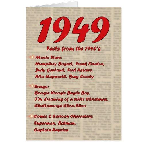 Feliz cumpleaños 1949 años de los años 40 40s de l felicitacion