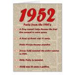 Feliz cumpleaños 1952 años de los años 50 50s de l felicitación