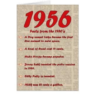 Feliz cumpleaños 1956 años de los años 50 50s de tarjeta de felicitación