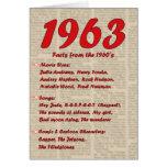 Feliz cumpleaños 1963 años de los años 60 60s de l tarjeton