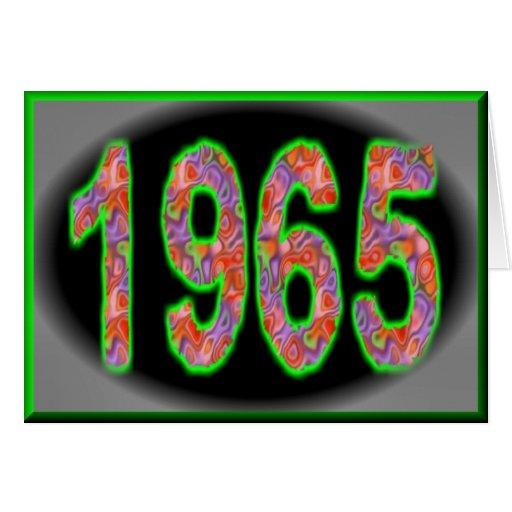 Feliz cumpleaños 1965 años de años 60 de los años  tarjeta