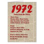 Feliz cumpleaños 1972 años de los años 70 70s de l tarjetón