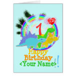 Feliz cumpleaños 1 año, su tarjeta conocida de Din