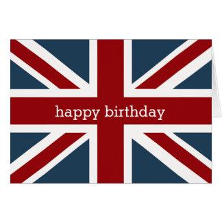 Feliz cumpleaños 2 de la bandera clásica de Union Tarjeta De Felicitación