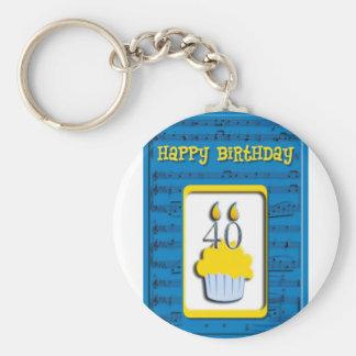 Feliz cumpleaños 40 o llavero