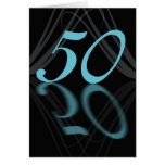 Feliz cumpleaños 50 elegante, espejo 50, 50.o birt