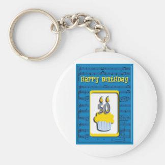 Feliz cumpleaños 50 o de la magdalena llavero personalizado