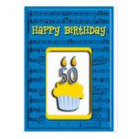Feliz cumpleaños 50.o de la magdalena tarjetas postales