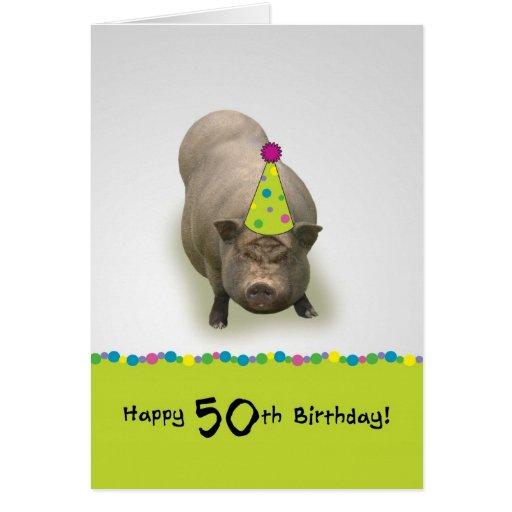 Feliz cumpleaños 50, tarjeta de felicitación dulce