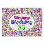 Feliz cumpleaños 50 tarjetón