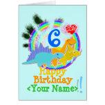 Feliz cumpleaños 6 años, su tarjeta conocida de lo