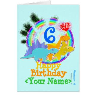 Feliz cumpleaños 6 años su tarjeta conocida de lo