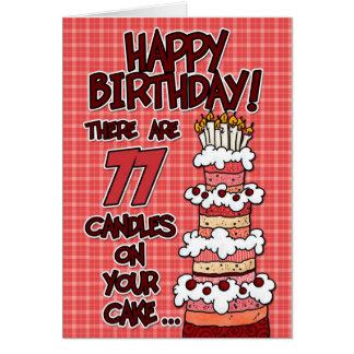 Feliz cumpleaños - 77 años tarjeta de felicitación
