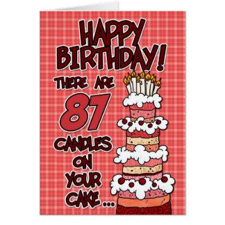Feliz cumpleaños - 87 años tarjeta de felicitación