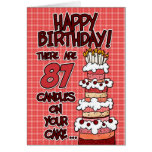 Feliz cumpleaños - 87 años tarjeton