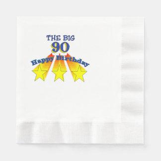 Feliz cumpleaños 90 grandes servilletas desechables