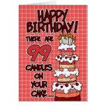 Feliz cumpleaños - 99 años tarjeta de felicitación