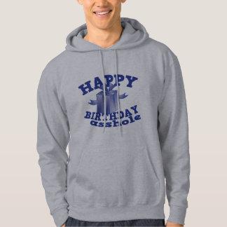 Feliz cumpleaños a ** agujero jersey con capucha
