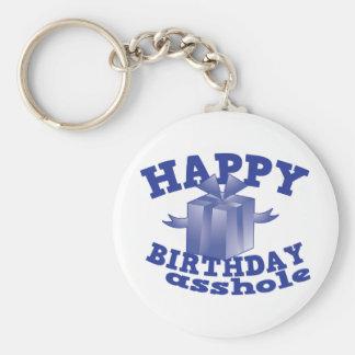 Feliz cumpleaños a ** agujero llavero redondo tipo pin