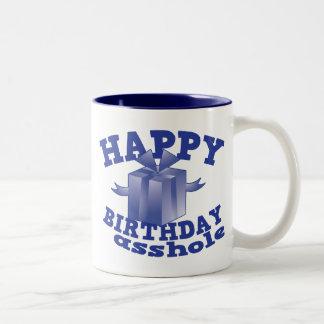Feliz cumpleaños a ** agujero taza de dos tonos