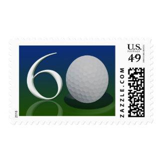 Feliz cumpleaños a la nuez del golf de 60 años franqueo