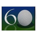 Feliz cumpleaños a la nuez del golf de 60 años tarjeta de felicitación