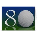 Feliz cumpleaños a la nuez del golf de 80 años felicitaciones
