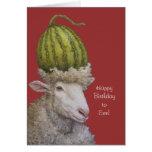 Feliz cumpleaños a la tarjeta de la oveja