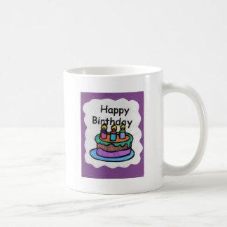 Feliz cumpleaños a mí (arte) taza de café