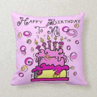 Feliz cumpleaños a mí cojín decorativo