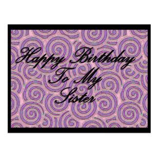 Feliz cumpleaños a mi hermana tarjetas postales