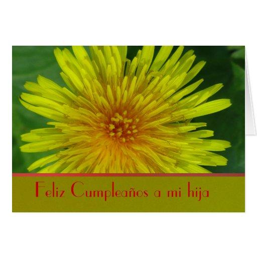 Feliz Cumpleaños a mi hija Diente de León Card Zazzle