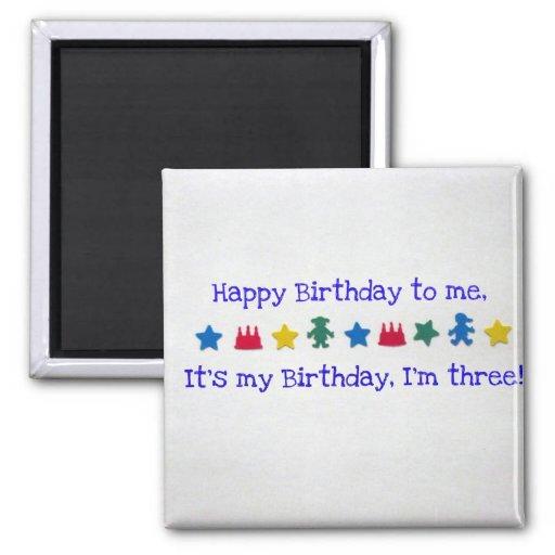Feliz cumpleaños a mí… imán cuadrado
