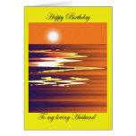 Feliz cumpleaños a mi marido cariñoso tarjeta de felicitación