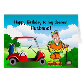 Feliz cumpleaños a mi Marido-Golfista más estimado Tarjeta De Felicitación