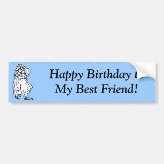 ¡Feliz cumpleaños a mi mejor amigo! Pegatina Para Auto