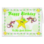 Feliz cumpleaños a mi mejor amigo tarjetas
