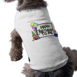 Feliz cumpleaños a mí muchacho camiseta de mascota