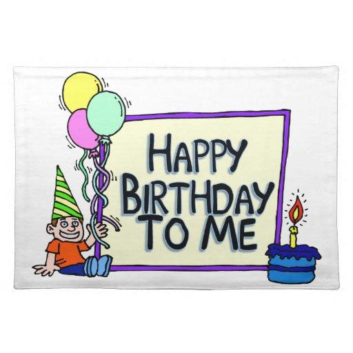 Feliz cumpleaños a mí muchacho mantel