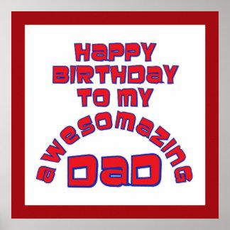 ¡Feliz cumpleaños a mi PAPÁ de AWESOMAZING! Impresiones