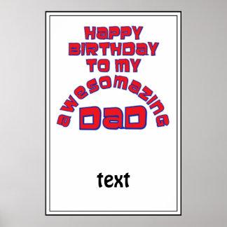 ¡Feliz cumpleaños a mi PAPÁ de AWESOMAZING! Poster