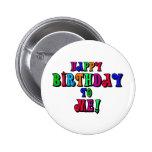 Feliz cumpleaños a mí pins