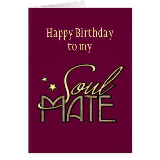 Feliz cumpleaños a mi Soulmate Tarjeta De Felicitación
