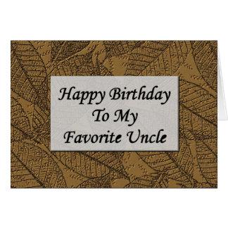Feliz cumpleaños a mi tío preferido tarjetón