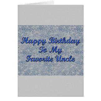 Feliz cumpleaños a mi tío preferido felicitacion