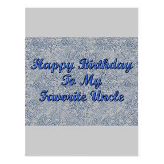 Feliz cumpleaños a mi tío preferido tarjetas postales